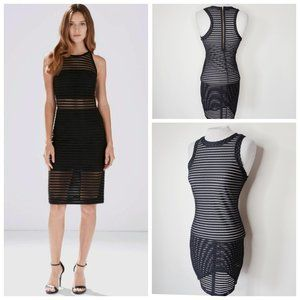 LOVELY DAY Striped Transparent Body Con Dress